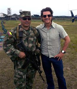 In Pics: Tom Cruise wings into Colombian Amazon