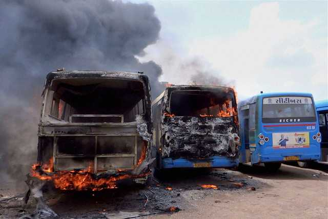 India: Gujarat state hit by violent caste-related protests, army called in
