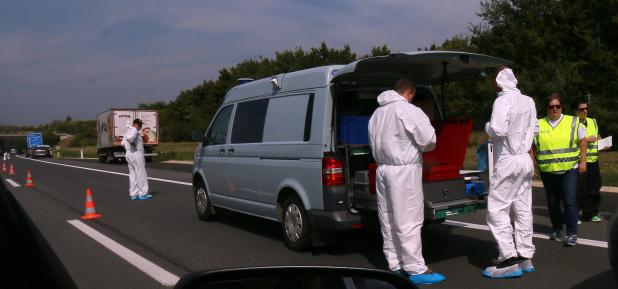 20 migrants found dead in truck on Austria highway