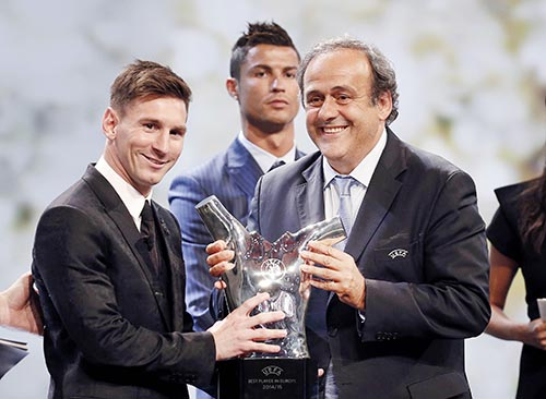 Lionel Messi voted Uefa's best player in Europe