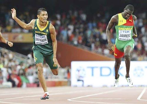 Van Niekerk wins 400m