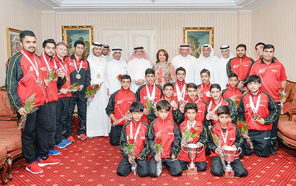 Table tennis heroes return from Sharjah