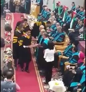 Jordan: Student spits at teacher during graduation ceremony