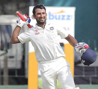 India rally with solid Pujara ton