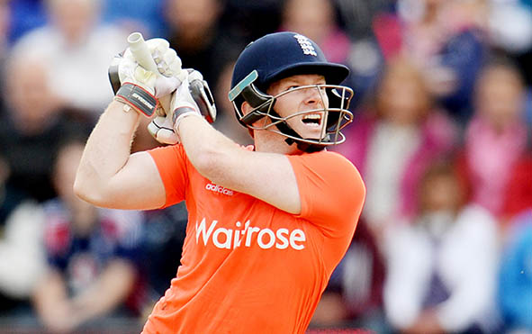 Morgan steers England to tense T20 win