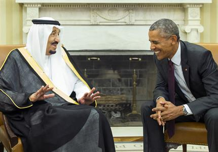Saudi king meets Obama amid Gulf concerns over Iran deal