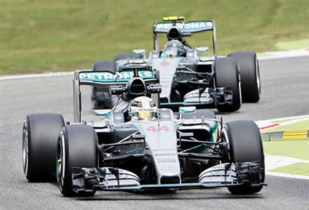 Mercedes pair set pace again