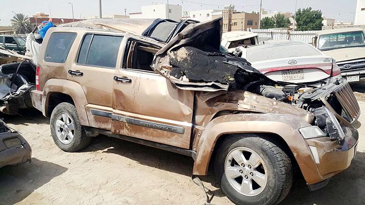 Three hurt in Saudi accident