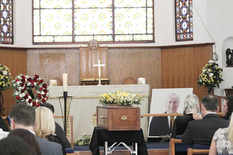 Funeral tribute to Rod Taylor