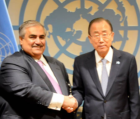 Bahrain calls for joint action to face threats