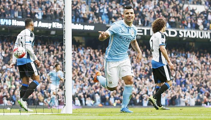 Aguero hits five past Newcastle