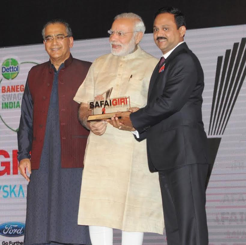 Eram Scientific received the 'Toilet Titan Award' from Indian PM Modi