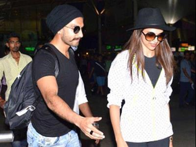 Deepika Padukone and Ranveer Singh spotted together at airport