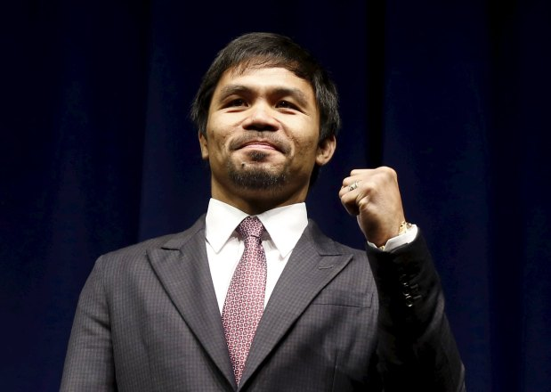 Star Philippine boxer Pacquiao declares he'll fight for Senate seat