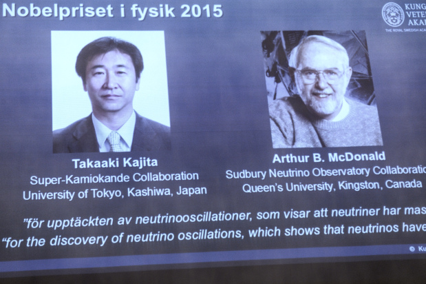 Nobel Prize in Physics for missing piece in neutrino mass puzzle