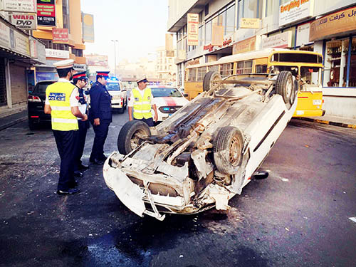 Five Bahrainis injured in accidents
