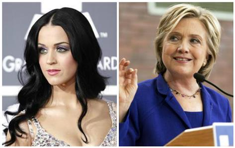 Katy Perry set to roar for Hillary Clinton