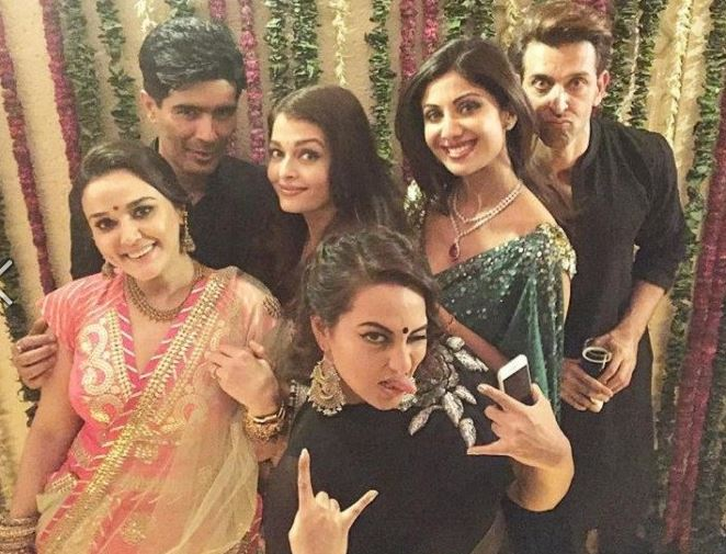 Bollywood Cool Selfies And Crazy Poses Inside Pictures Of Bachchans Diwali Bash