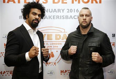 Haye to make comeback against Mark de Mori