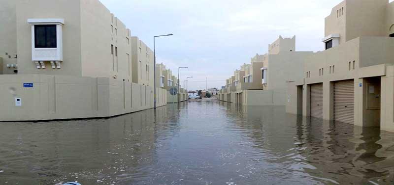 Bahrain hit  by heavy downpour