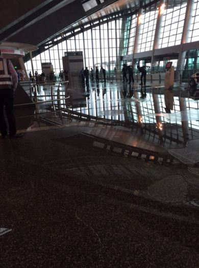 Qatar: Flooding at Doha's $15 billion Hamad International Airport
