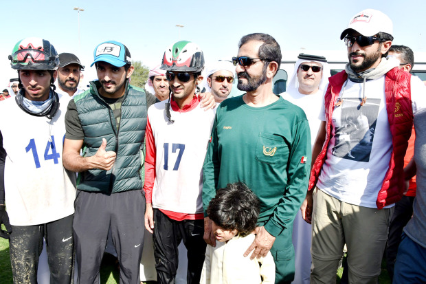 Shaikh Nasser attends Dubai endurance event