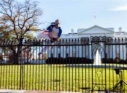 White House undergoes holiday lockdown after man jumps fence