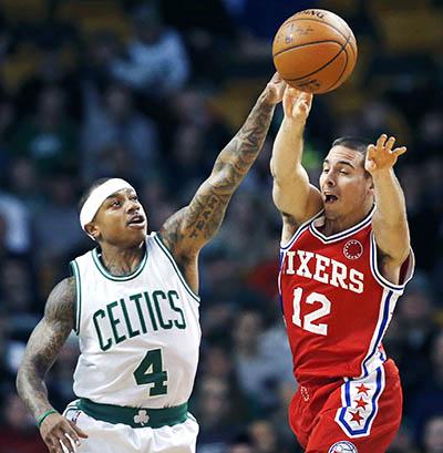 Celtics slip past Sixers