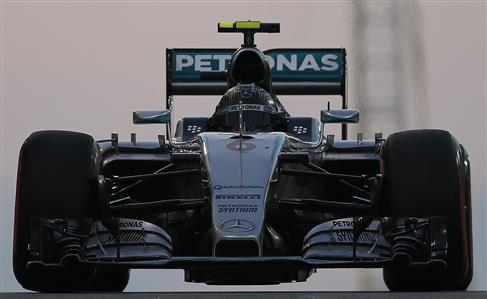 Rosberg races to sixth straight pole spot