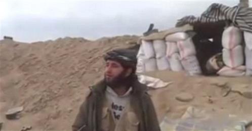 Shocking Moment: Shell strikes Islamist rebel fighter whilst filming propaganda video