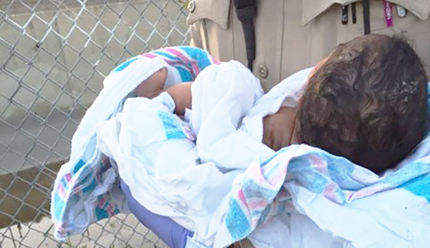 Newborn baby girl buried alive down hole in Los Angeles