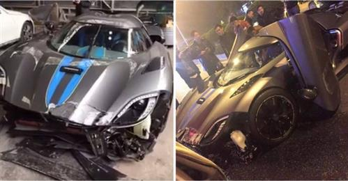 In Pics: Driver destroys $4.1 million supercar just hours after taking delivery!
