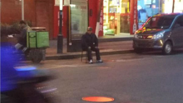 The Worst Son Ever: Makes parents sit guard over parking spot in freezing weather and rain!