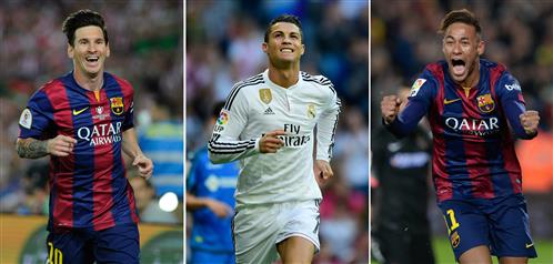 Ronaldo, Messi and Neymar on shortlist for Ballon d'Or