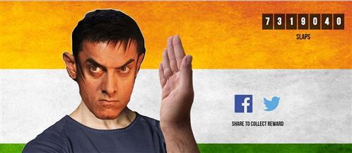 After virtual slap, Aamir Khan not gets online kisses