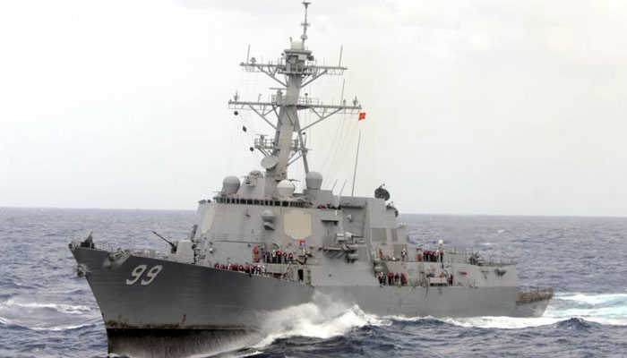 US accuses Iran of conducting missile test near warships