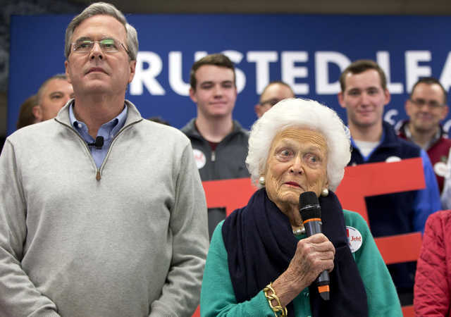Struggling Jeb Bush brings out his 90-year-old mom for campaign