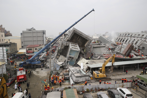 In Pics: 14 dead, hundreds injured as quake rattles Taiwan