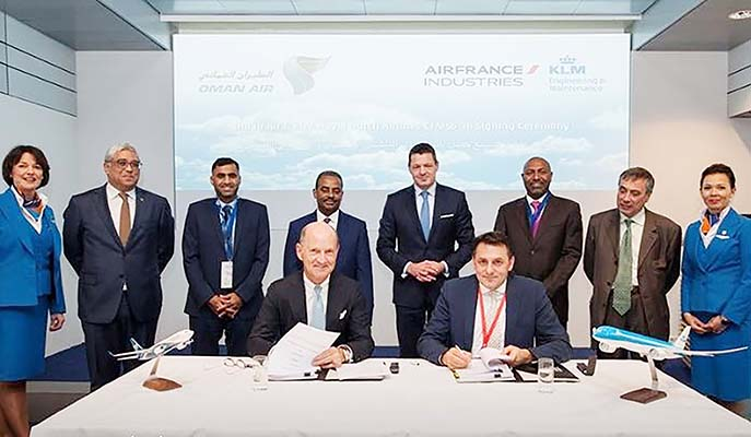 Oman Air signs key accord with KLM