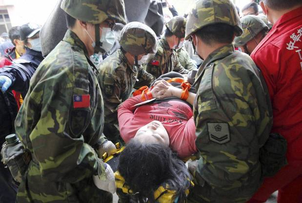 Rescue work continue after Taiwan quake, about 120 people still trapped