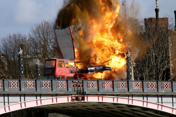 Jackie Chan's exploding bus movie stunt sparks concerns in London
