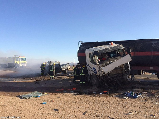 Five Saudi nationals burnt to death in horrific accident