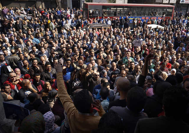 Egypt doctors stage protest
