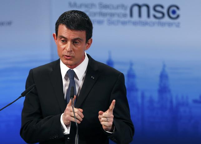 French PM says Russia must stop bombing of civilians in Syria