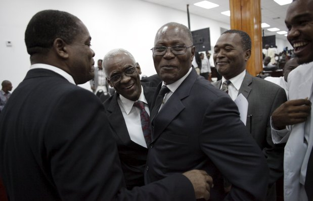 Haiti lawmakers elect Jocelerme Privert as interim president