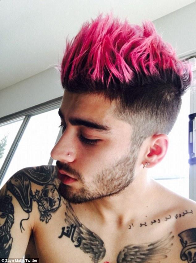 Celebs Zayn Malik Unveils Shocking Pink Hair In Online Post