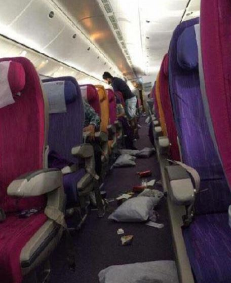 OMG: In Pics: Shocking Thai Airways turbulence leads to six injured and blood covered seats