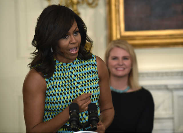 First lady wants next White House to keep focus on military