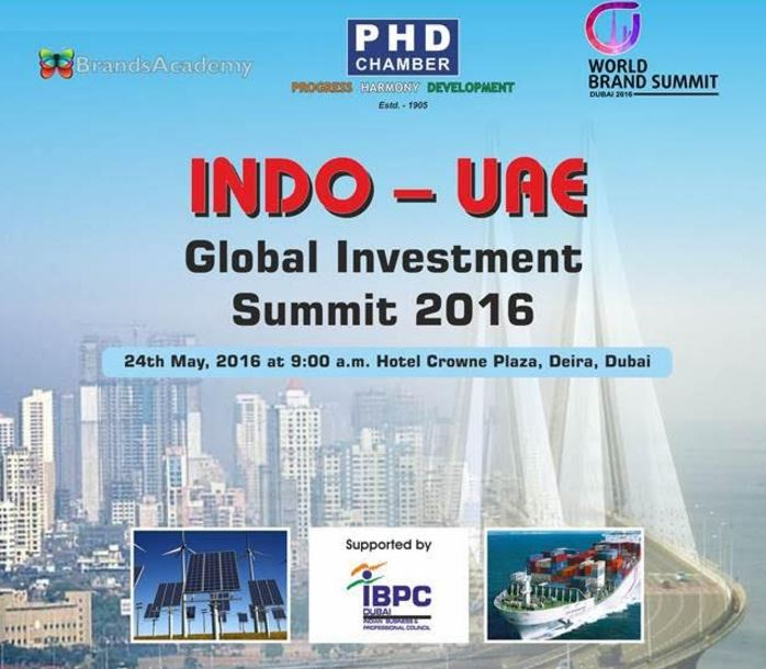 Indo-UAE Gulf Investment Summit to be held in Dubai
