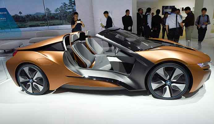 A Bmw I Vision Future Interaction Concept Car Presented At The Consumer Electronics Show Asia 2016 In Shanghai China